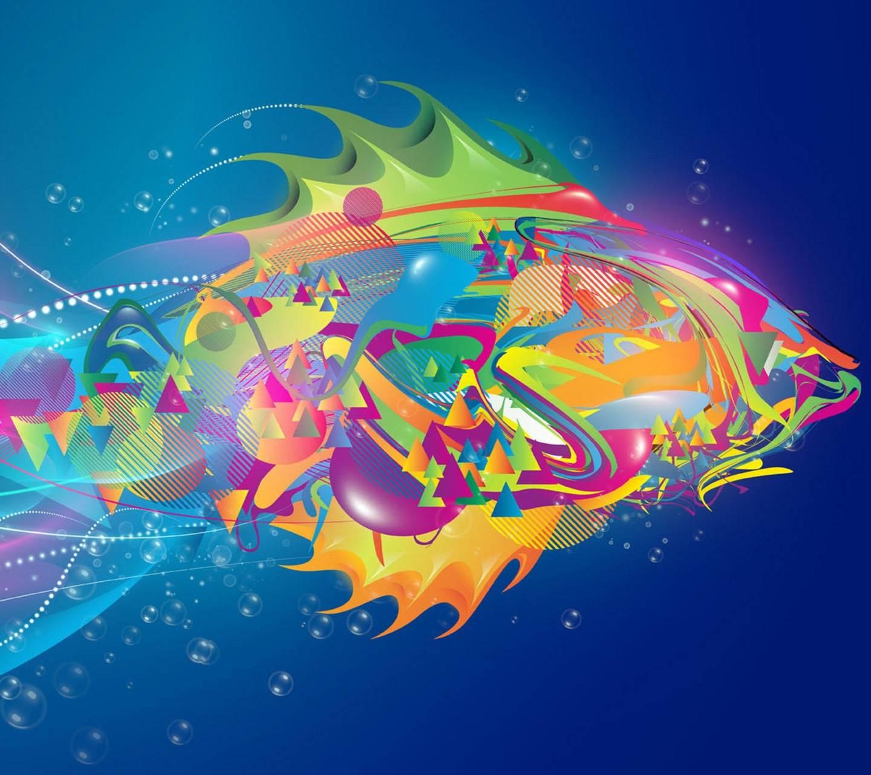Abstract Fish Art