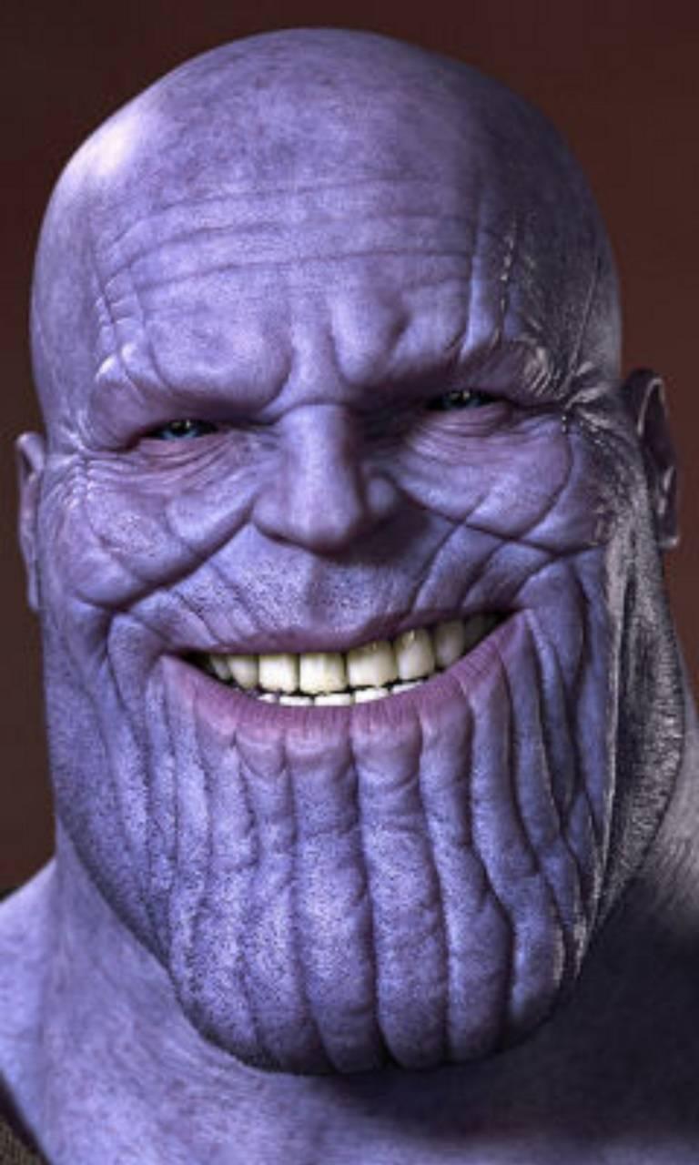 Thanos smiling