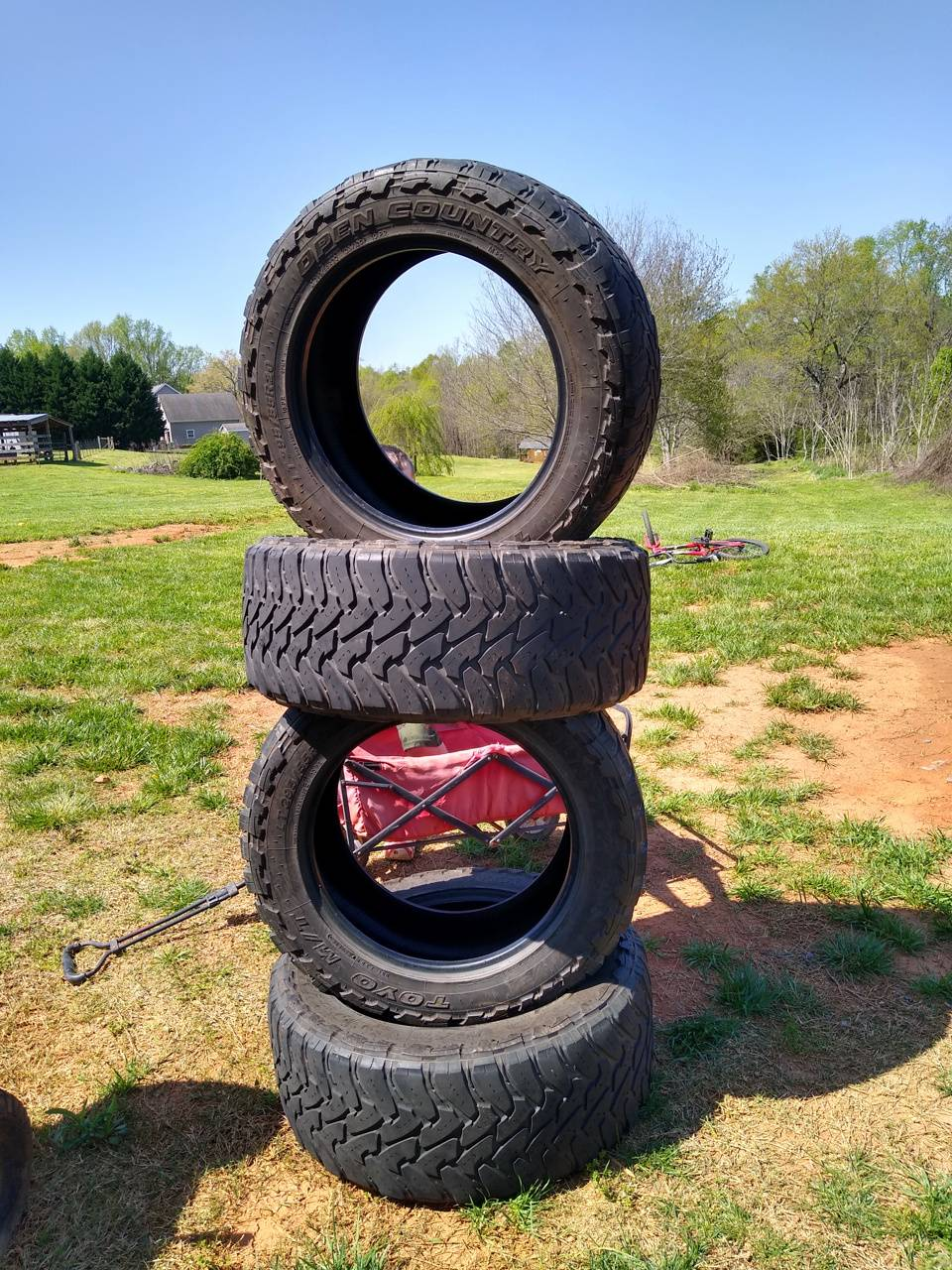 fancey tire stacking