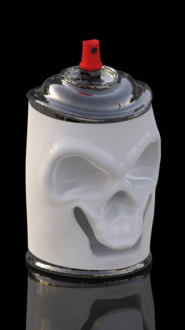 skull spray paint