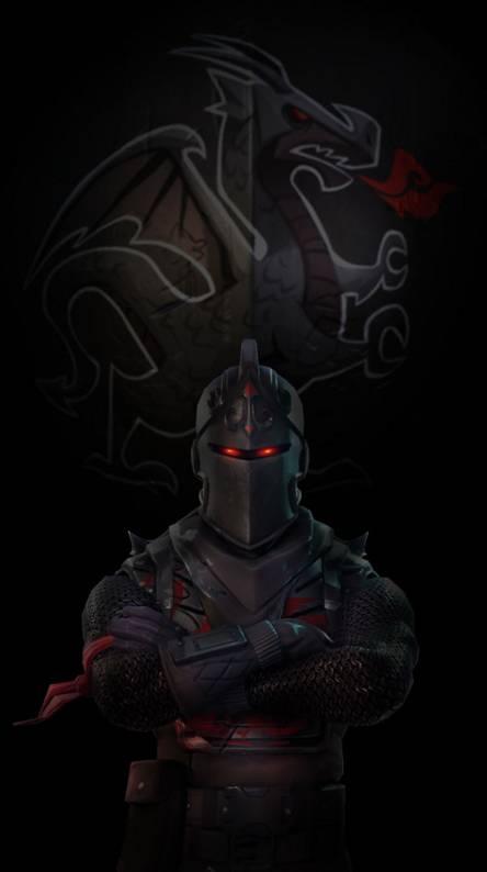 black fortnite wallpaper