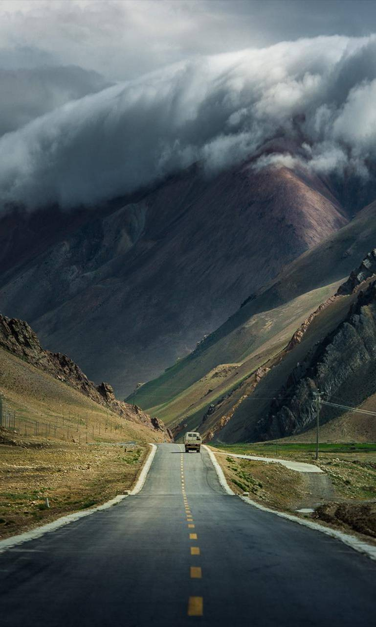 Road and Mountain