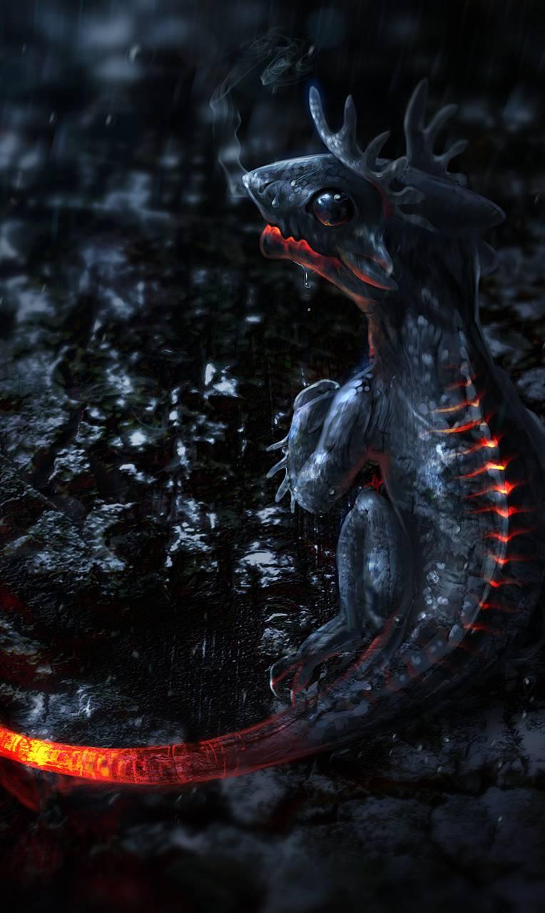 Baby Lava Dragon