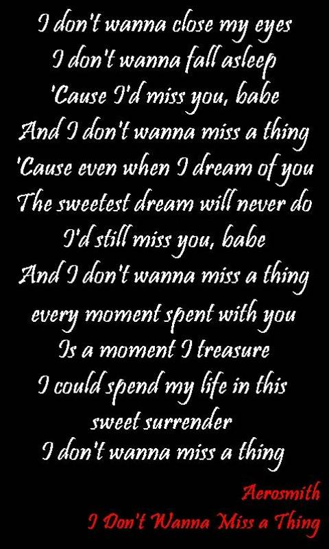 Dont Wanna Miss