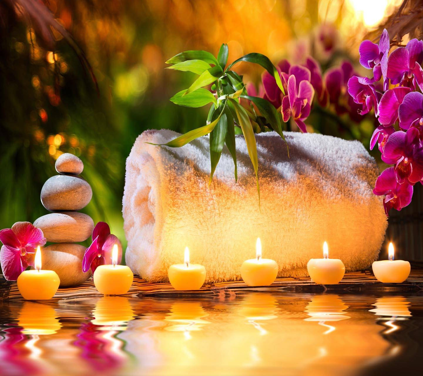 Spa Stones Candles