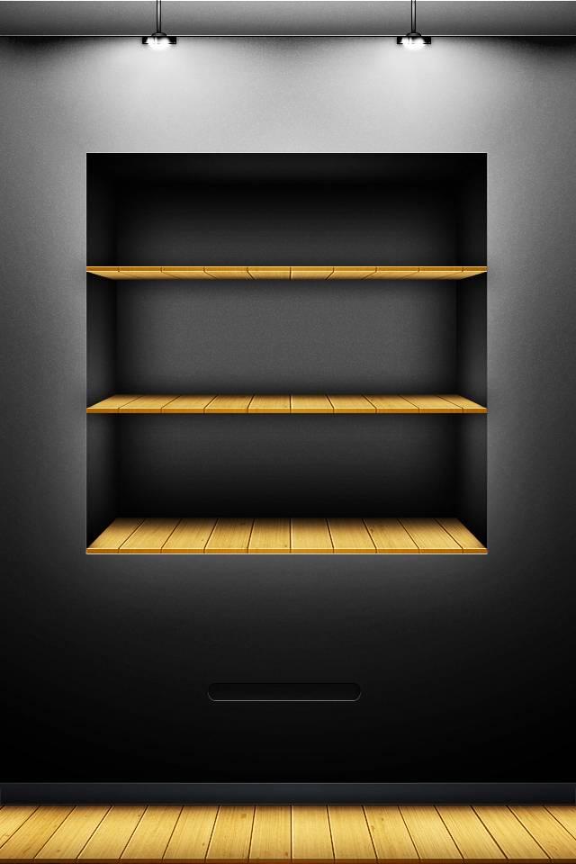 Black Shelf Wallpaper By Show Stopper 32 Free On Zedge