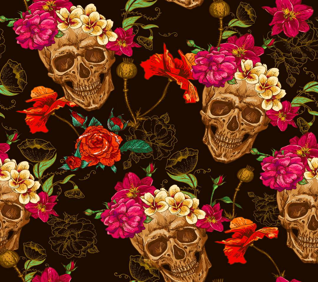 Floral Skull Wallpaper By S Ae Free On Zedge