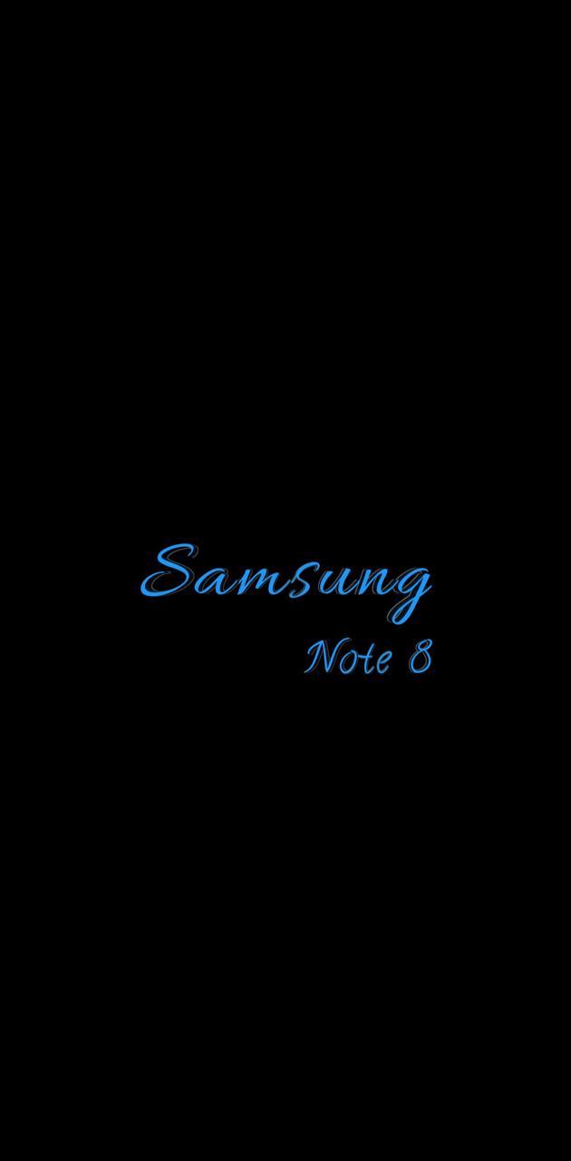 note 8 script Blue