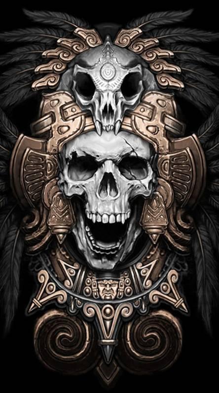 Skull Aztec