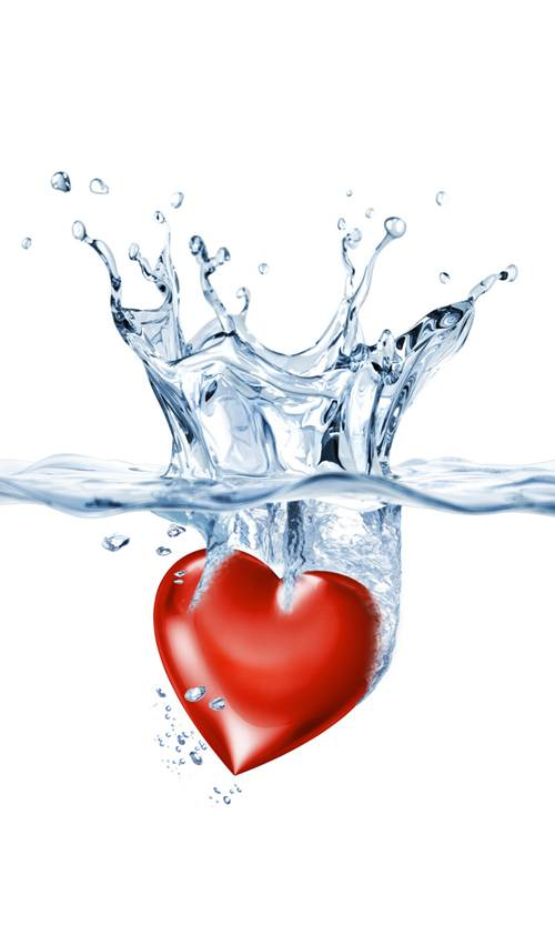 Love Heart in Water