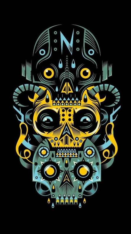 artwork skulls