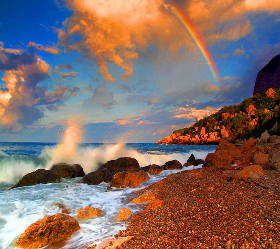 Rainbow  Over The Se