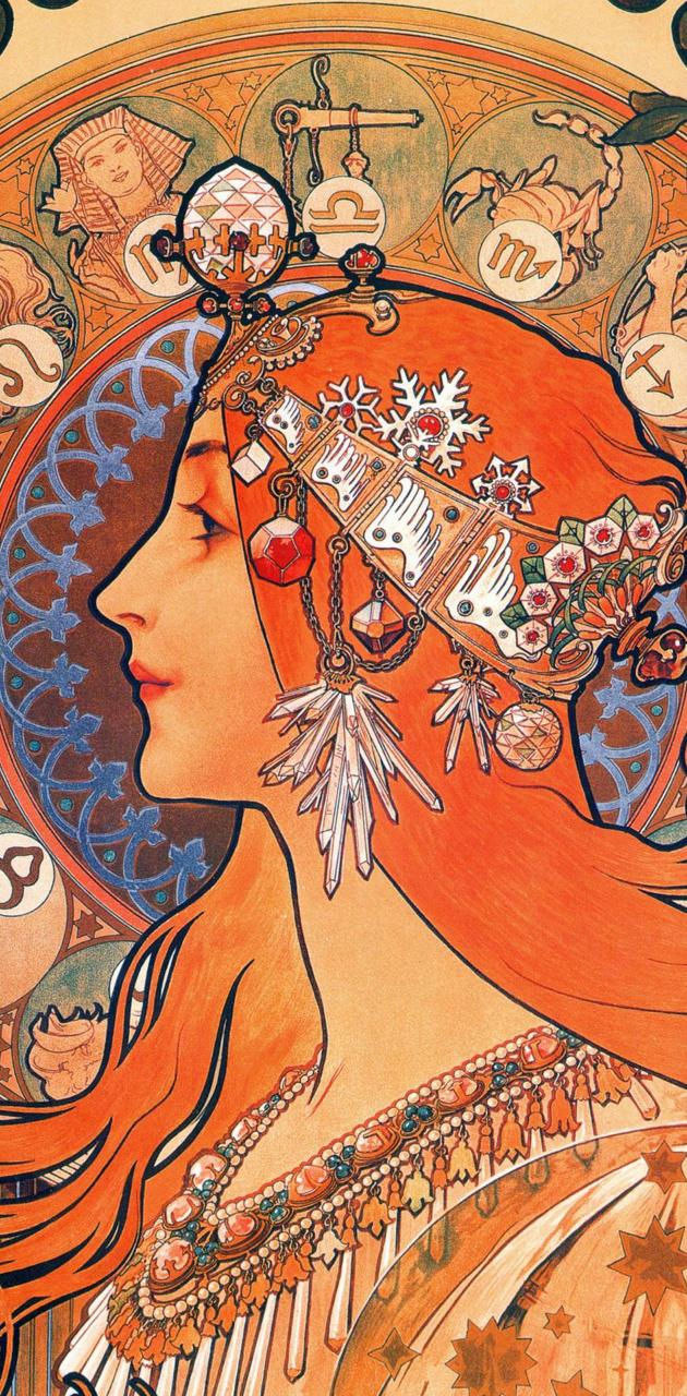 Mucha Zodiac Poster