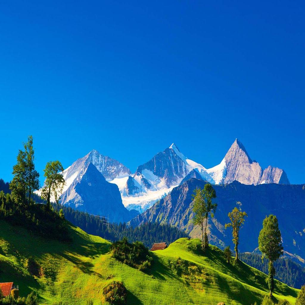 Mountains Blue Sky