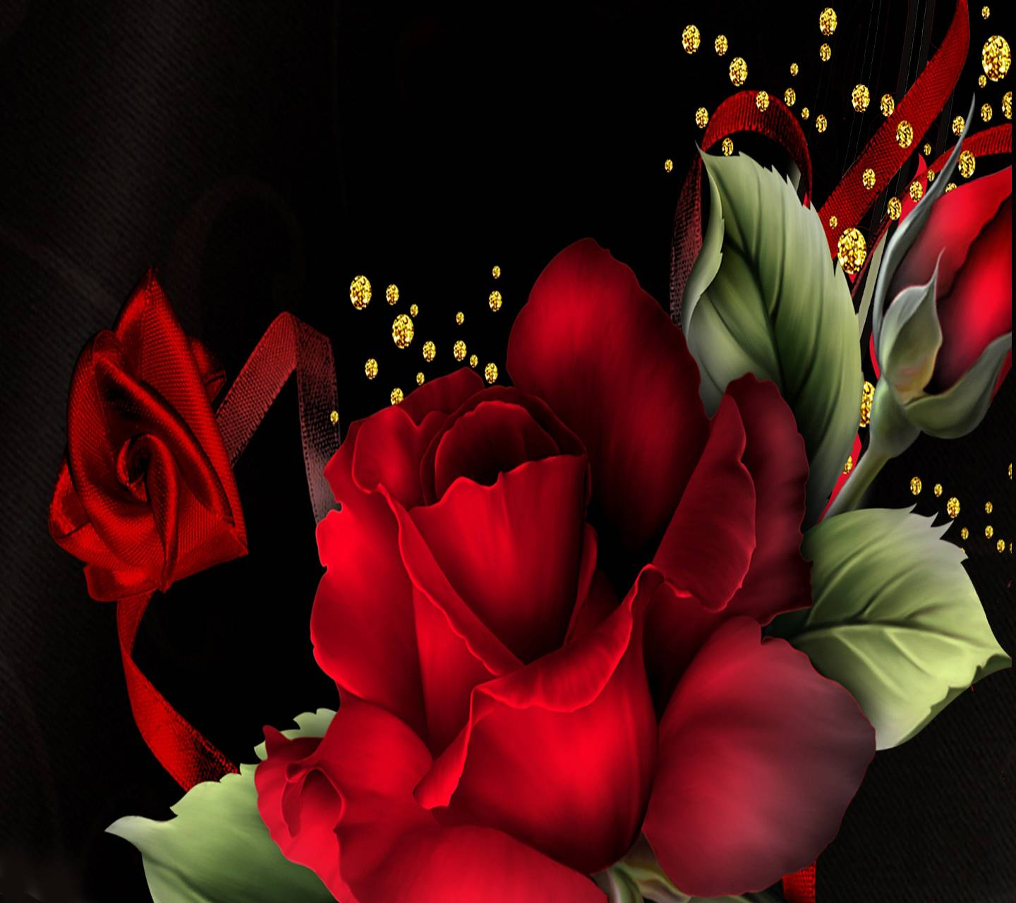 Floral  Red Roses