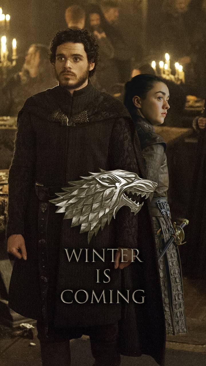 Robb and Arya Stark