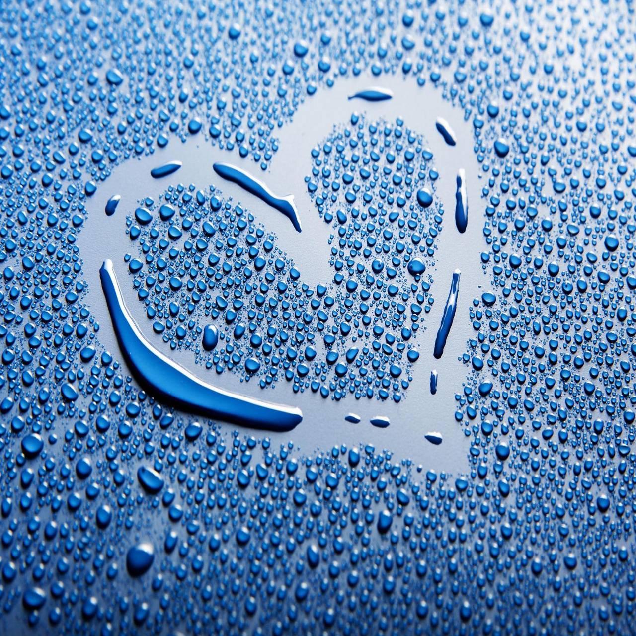 Drops Love heart