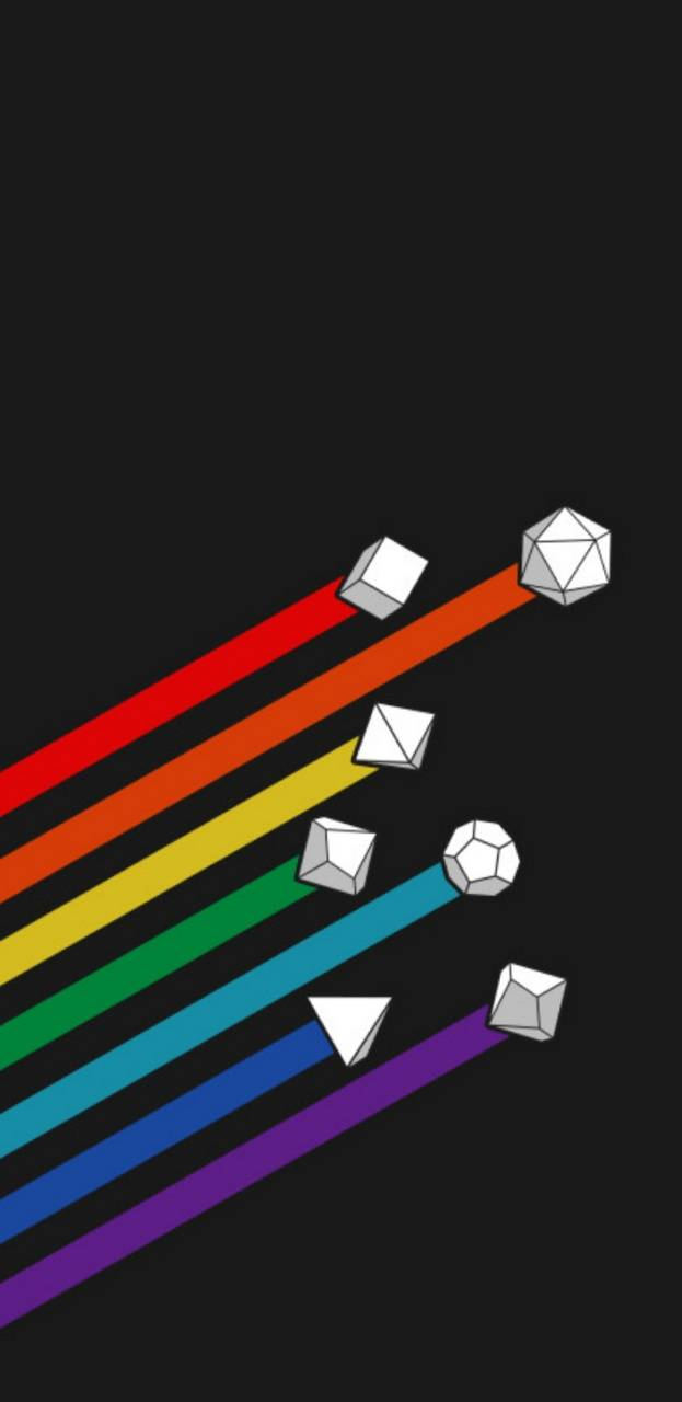 Bigger rainbow dice