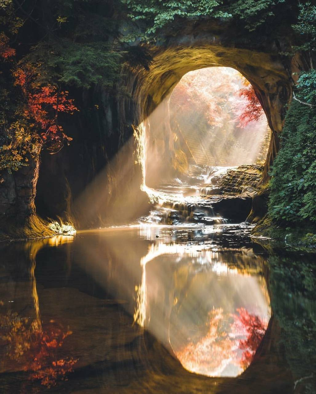A cave in japan
