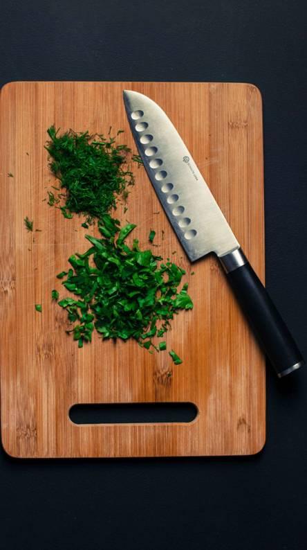 Herbs Wood Knife