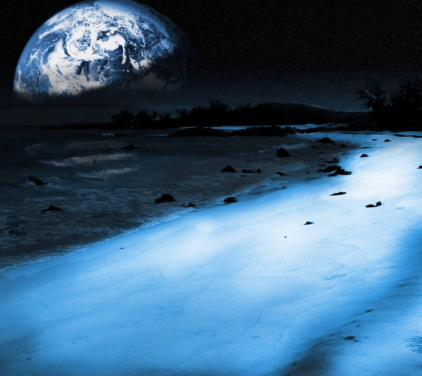 Blue Mooned Beach