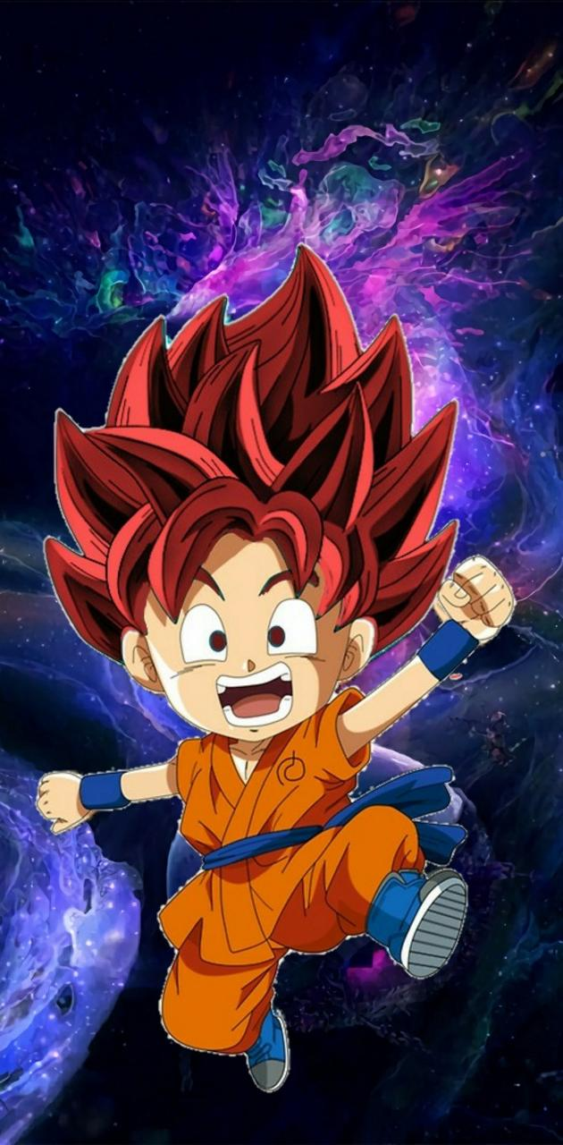 Goku blue red