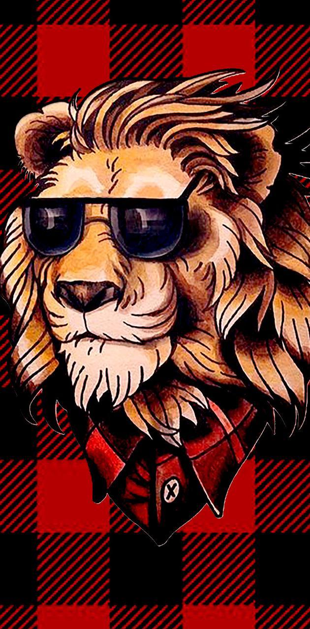 Old School Lion
