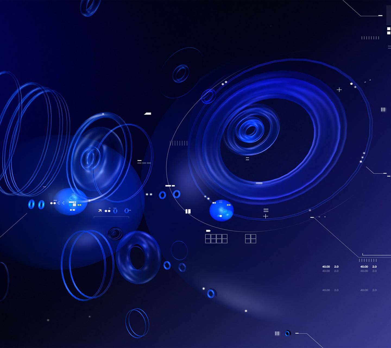 Tech Blue Circle