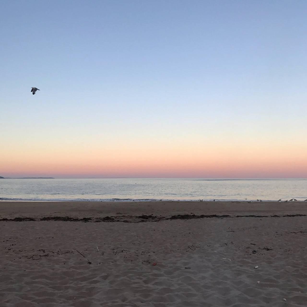 Welsh beach sunset