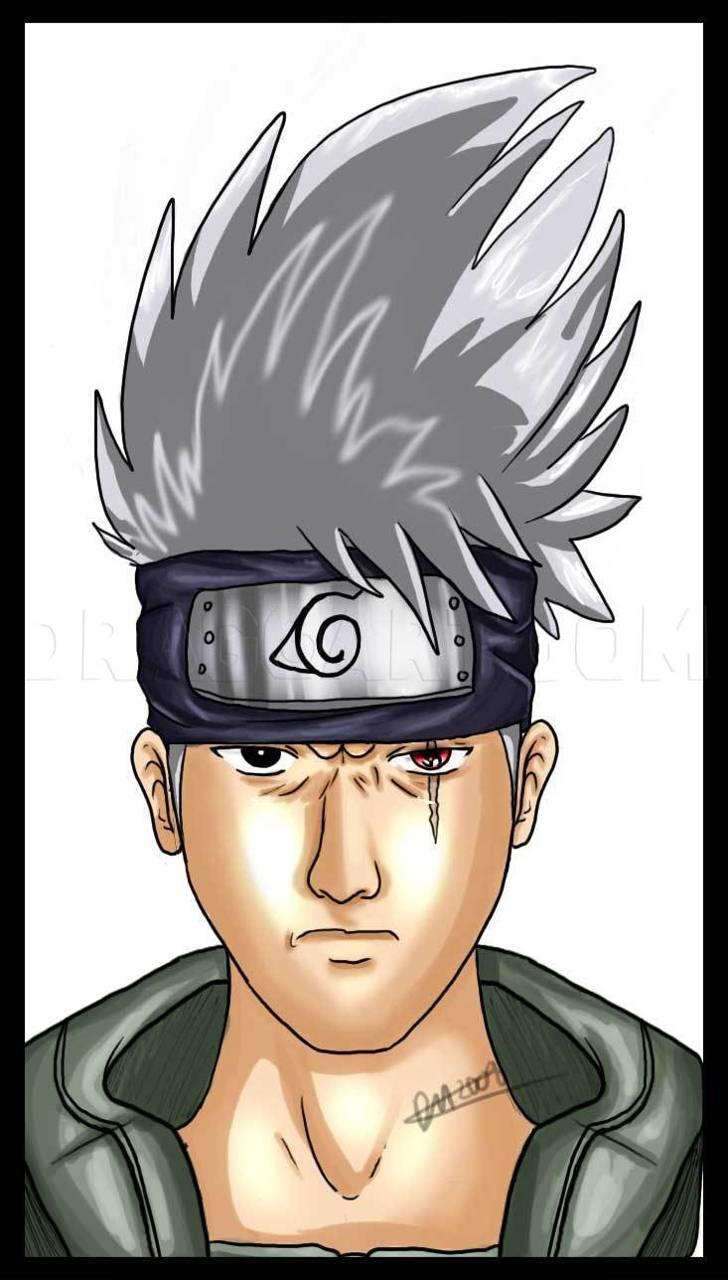 Kakashi drawn face