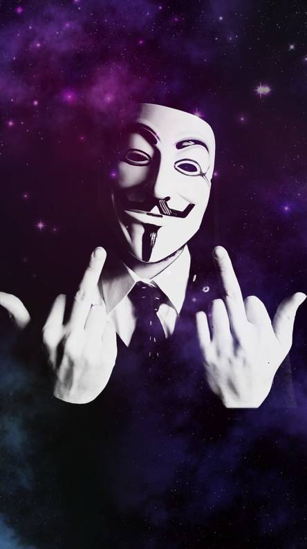 Middle Finger. Anonymous in Space 3
