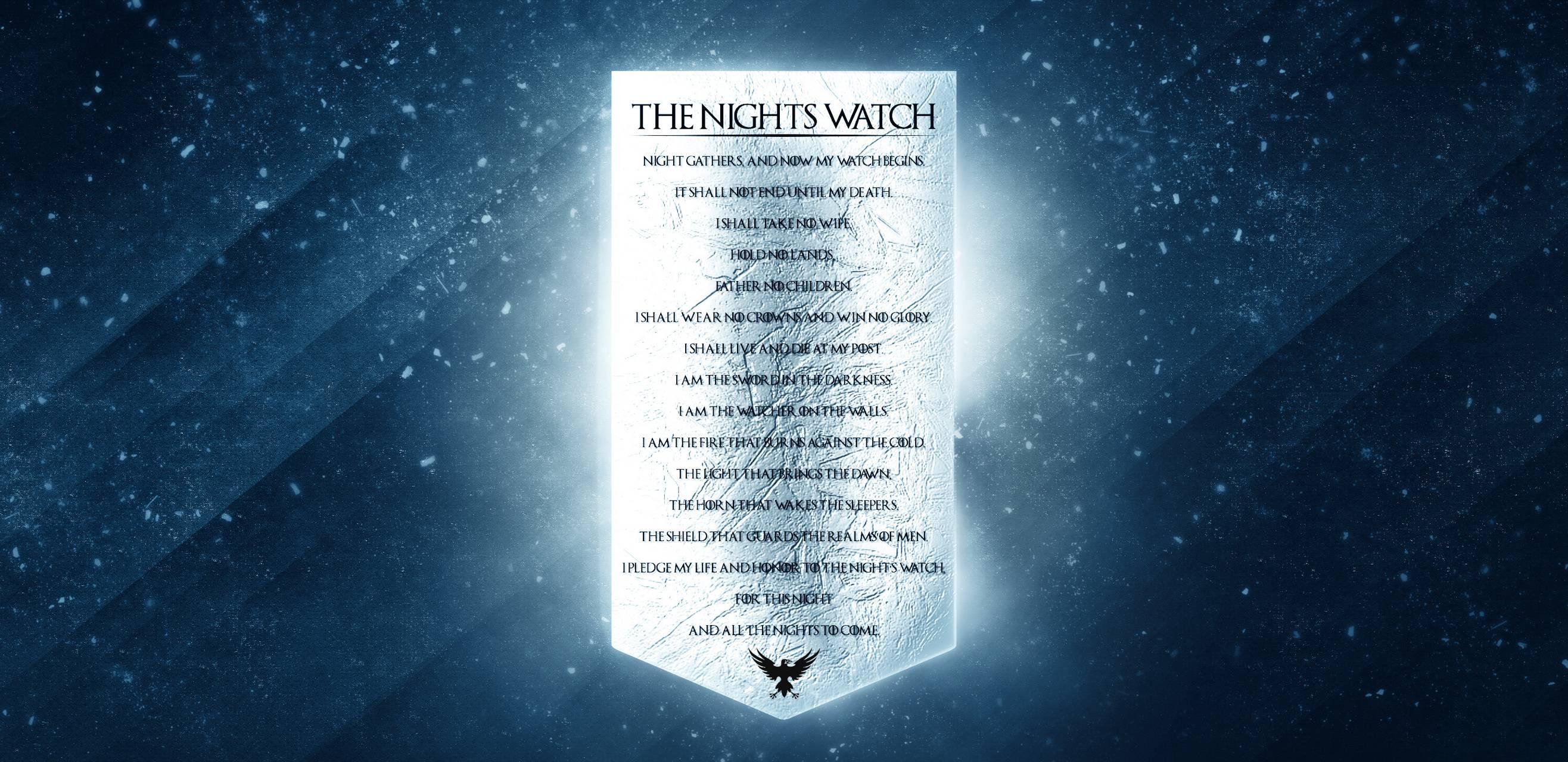 Nights Watch Vow