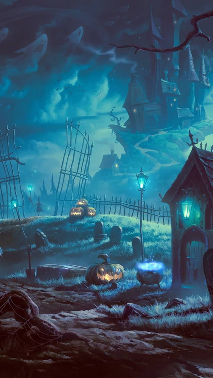 halloween cemetery wallpaperkhalidiary - 45 - free on zedge™