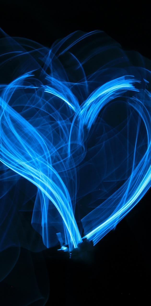 Blue Glow Heart