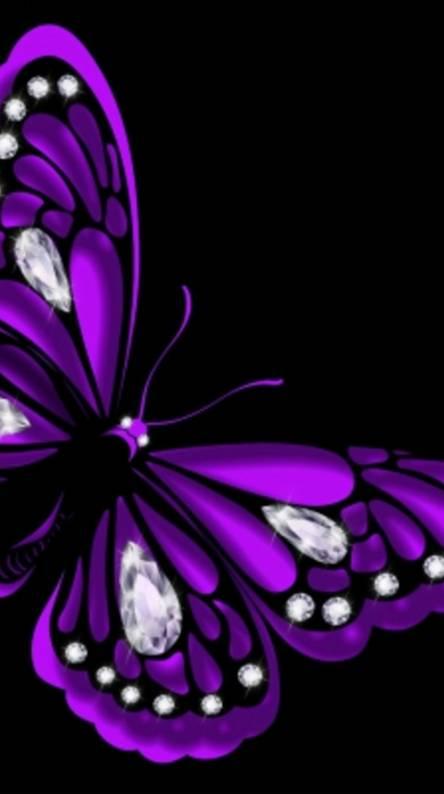 Purple Butterfly Wallpapers Free By Zedge