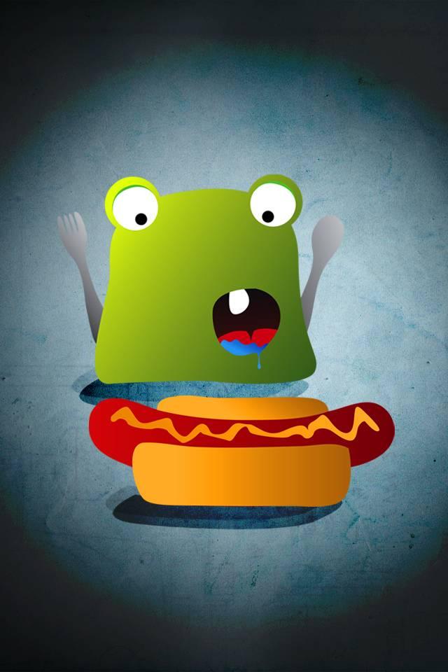 Hungry Cartoon Frog