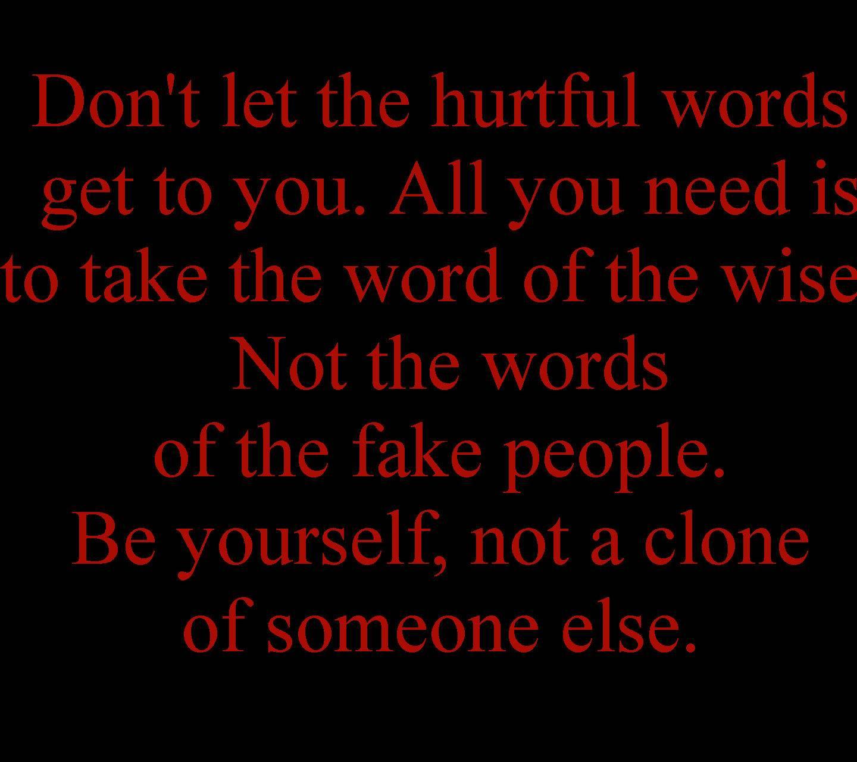 Hurtful Words