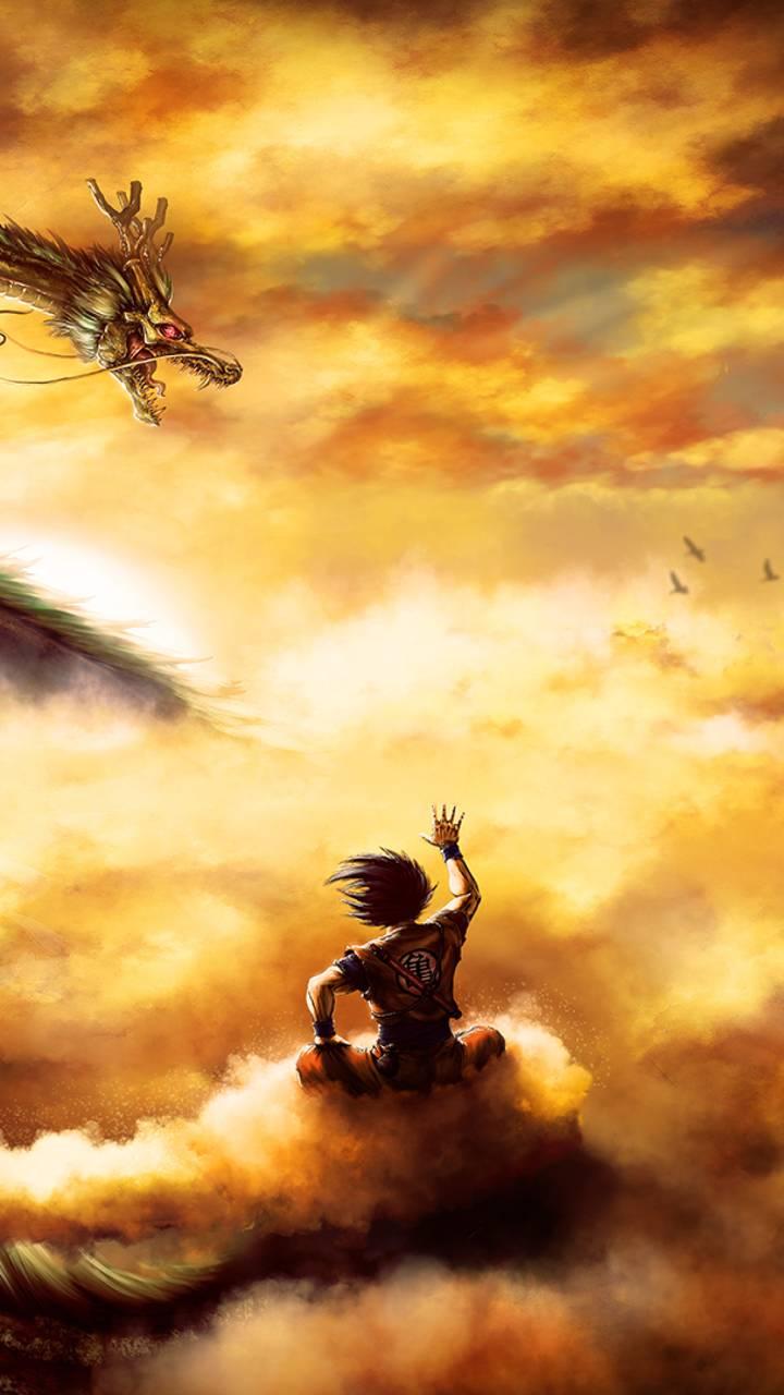 Goku on Nimbus