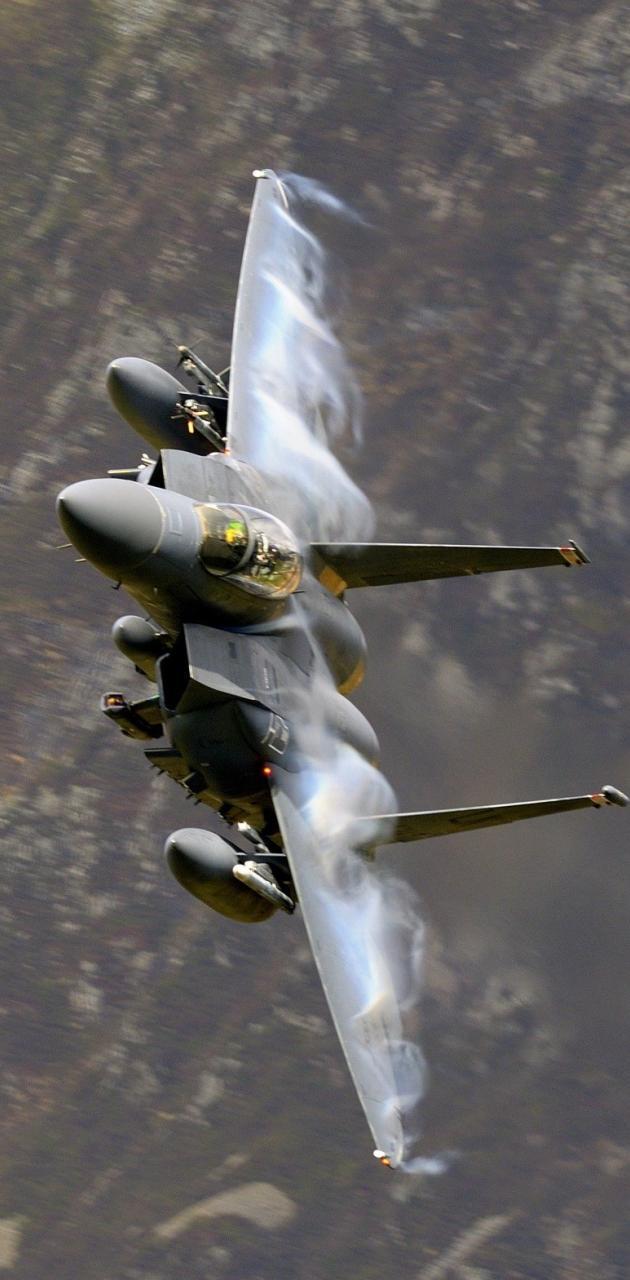 Supersonic f-15  jet