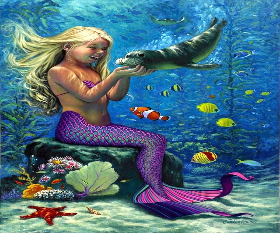 Mermaid And Pet