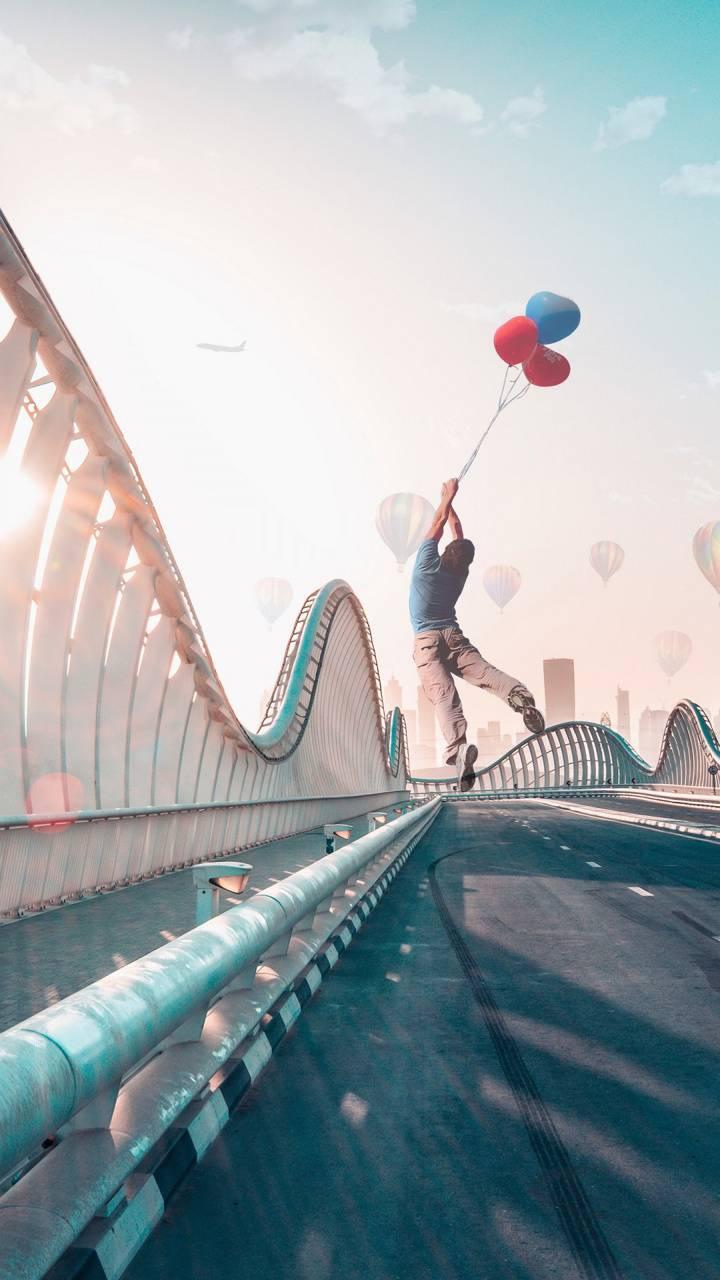 Flying  Dubai Bridge