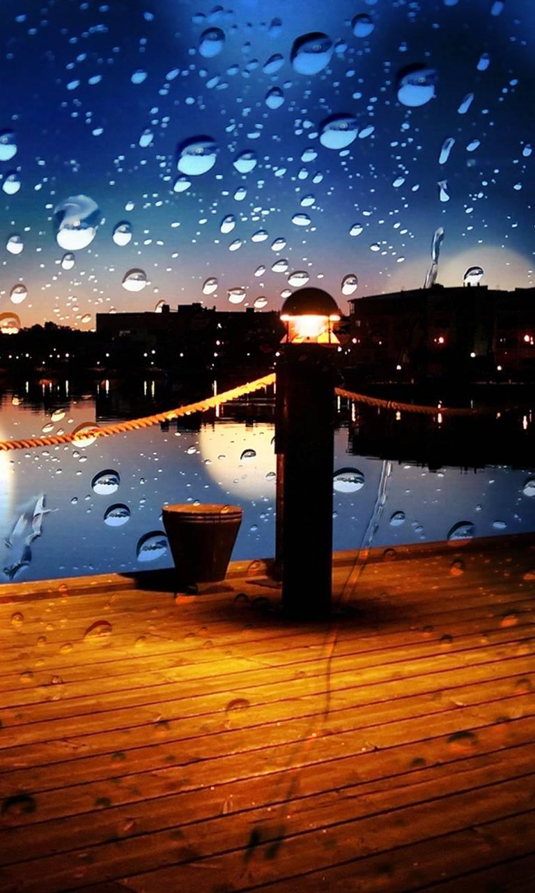 rainy night hd