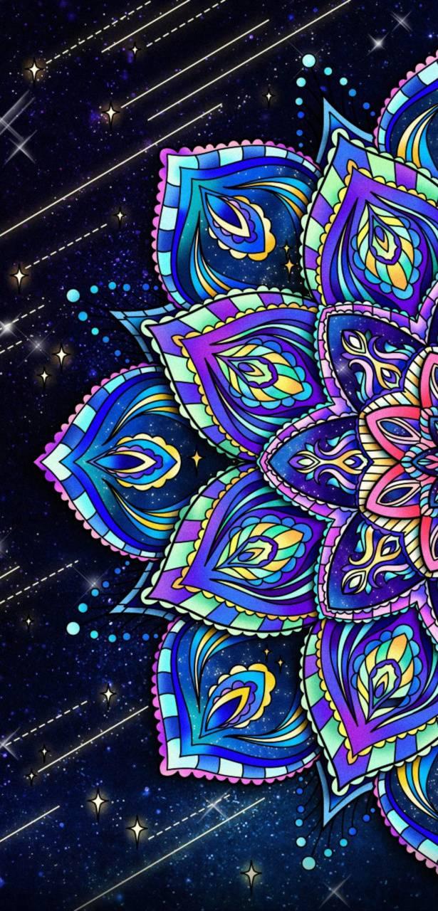 Blue Purple Mandala
