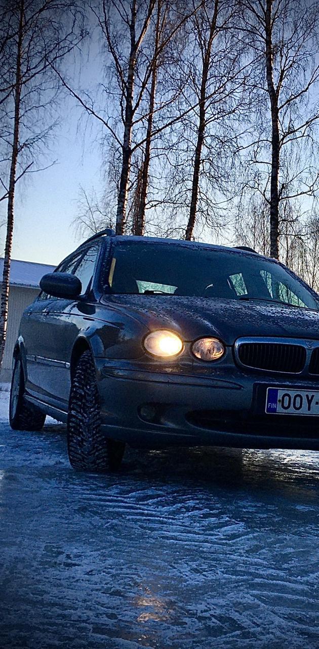 Jaguar x type on ice