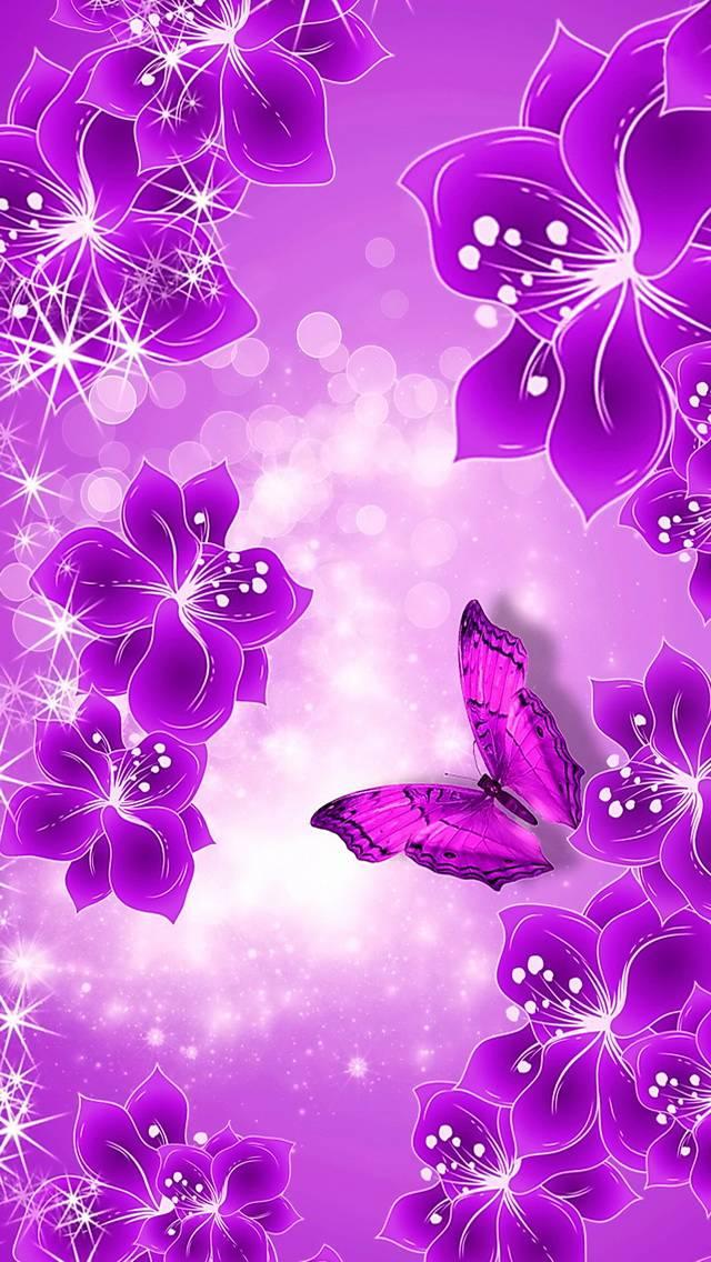 Purple Floral Shine