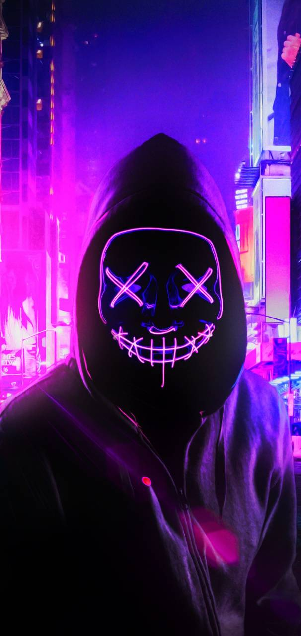 Neon Mask Wallpaper By Themune007 9f Free On Zedge