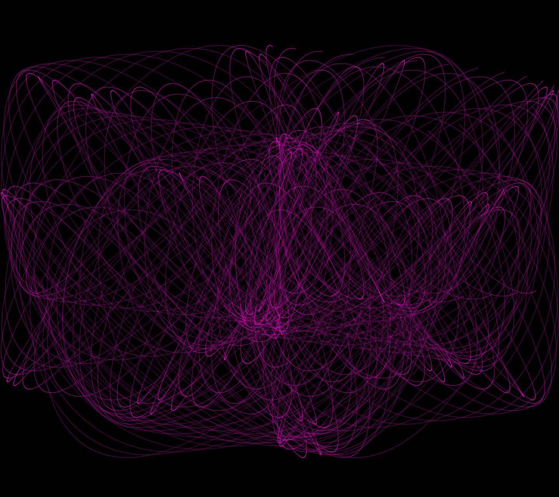 Abstract Neon Swirl