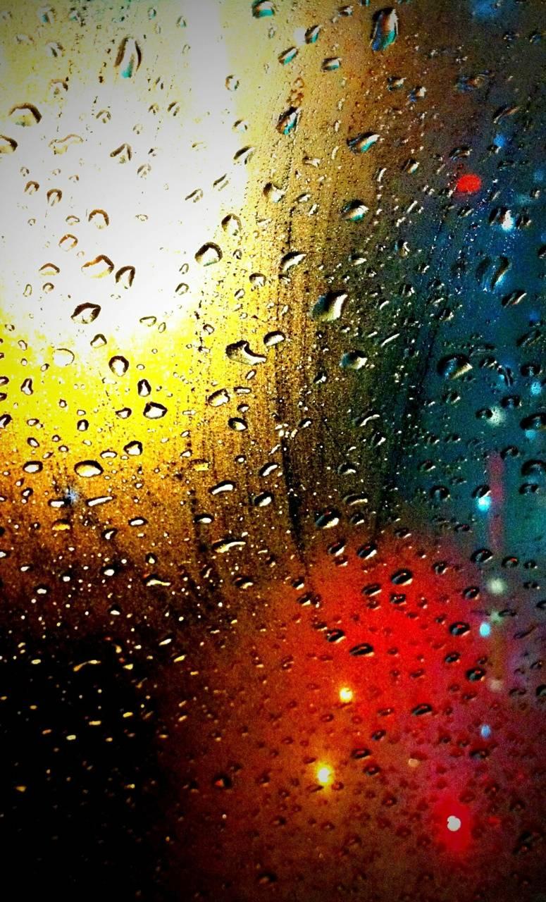 Colorful Rain Drops