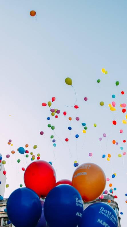 Balloons in Belgrade