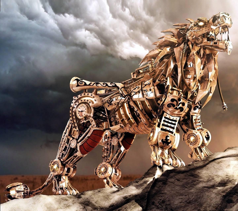 robot lion